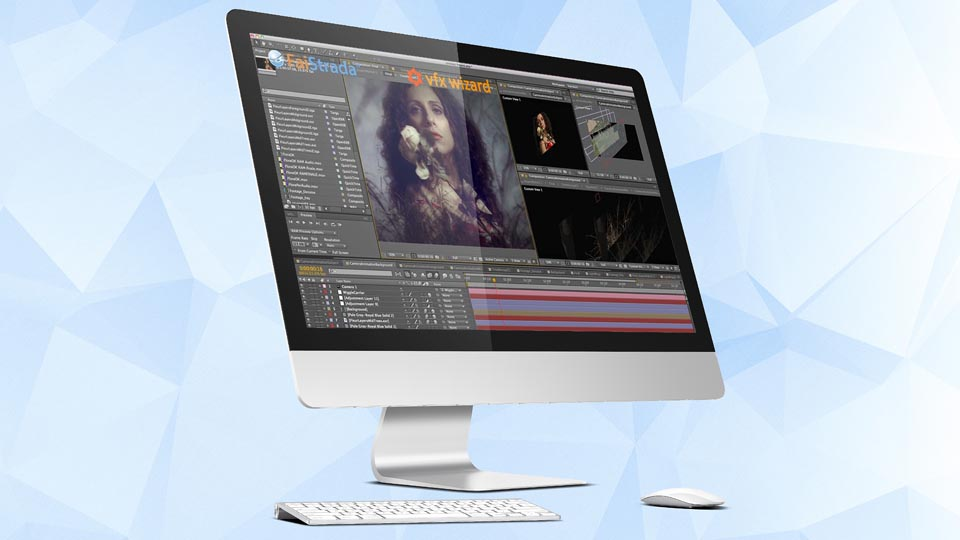 After Effects al lavoro in studio
