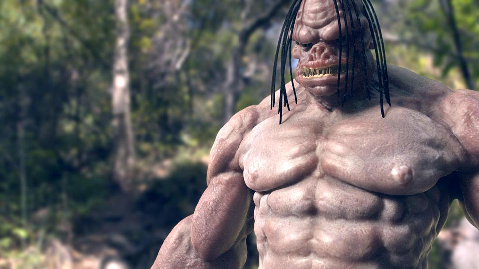 Character fotorealistico scolpito in zBrush