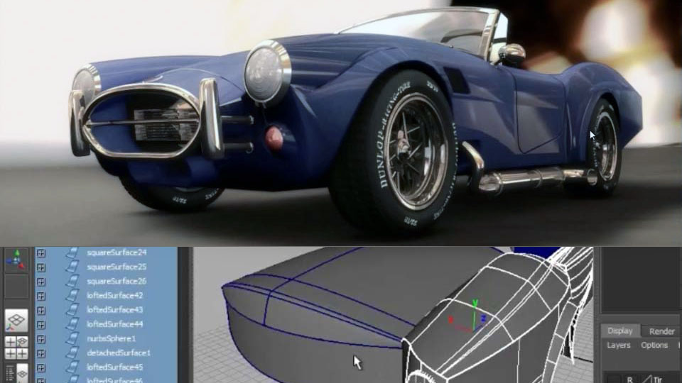 Modellazione e rendering in MAYA
