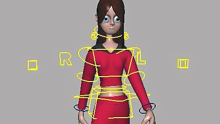 Rigging e cinematica inversa per un personaggio cartoon in Maya