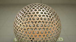 A quick and easy way to create a round mesh with well spaced holes
