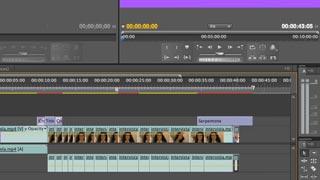 Il montaggio con taglio sull'asse e il titolatore di Adobe Premiere